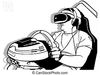 Virtual Reality with Steering Wheel