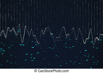 Virtual screen with stock data.