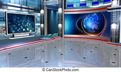 Virtual set studio for green footage Realize your vision for a professional-looking studio wherever you want it. With a simple setup, a few square feet of space, and Virtual Set , you can transform any location into a spectacular virtual environment