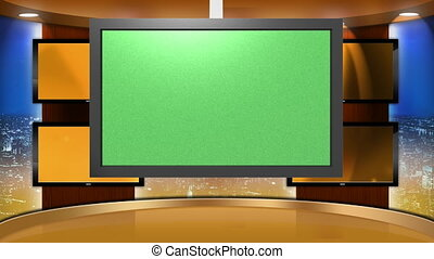 Virtual Set Background