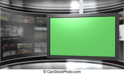 Virtual Set Background - Virtual Studio Backdrop with...