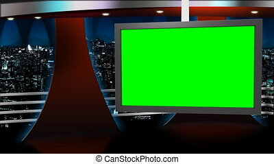 Virtual studio background for use with greenscreen