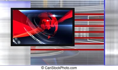 virtual set news right. - Virtual set studio for green...