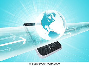 Virtual smartphone and Earth