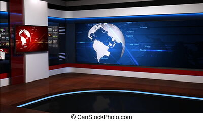 Virtual studio background 054 - The real TV news studio, ...