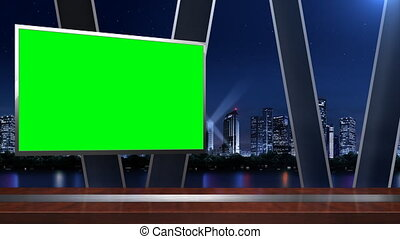 Virtual studio background_058_1.mov - News studio;The...