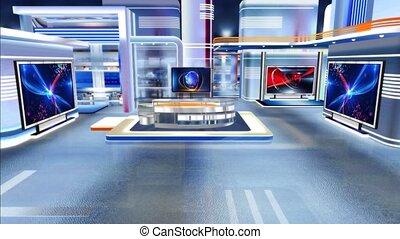 Virtual studio Newsroom C1 - Virtual set studio for green ...