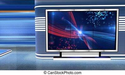 Virtual Studio Newsroom C2 - Virtual set studio for green ...