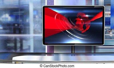 Virtual studio Newsroom C5 - Virtual set studio for green ...
