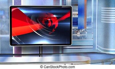 Virtual studio Newsroom C6 - Virtual set studio for green ...