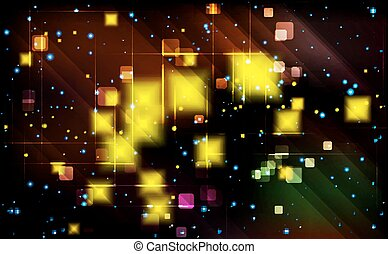Virtual technology background. - Virtual technology vector...