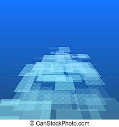 Virtual technology background vector illustration