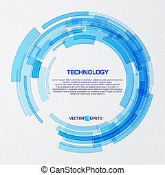 Virtual technology circle with space for your business message