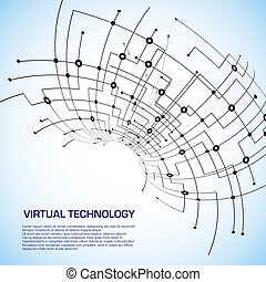 Virtual technology objects with space for your business...