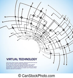 Virtual technology objects with space for your business message
