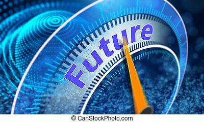 Virtual vision of the future concept