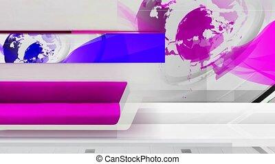 virtual_room_purple - Virtual set studio for green footage...