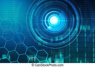virtuale, tecnologia, fondo