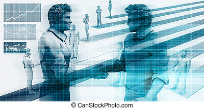Virtualization Business Technology as an Abstract Background