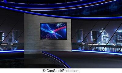 Virtualset_Diva3 - Virtual set studio for green footage...