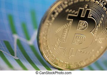 virtuel, bitcoins, concept, argent, nouveau