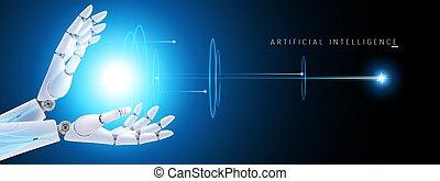 virtuel, interface, intelligence, vecteur, hud, artificiel, cybernétique, robot, réalité, organisme, travaux, fond, illustration