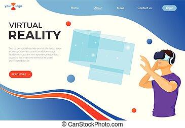 virtuell, augmented, isometrisch, wirklichkeit