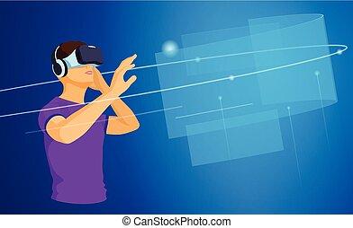 virtuell, augmented, wirklichkeit