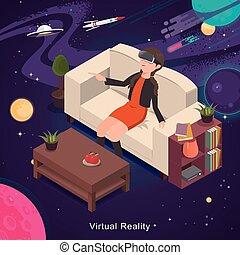 virtuell, erfahrung, wirklichkeit
