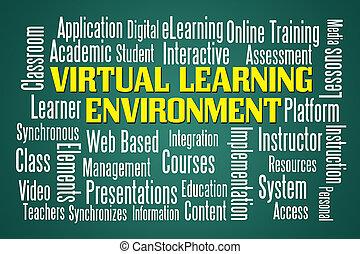 virtuell, lernen, umwelt