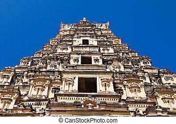 Virupaksha Temple, Hampi - Main gopuram of Virupaksha...
