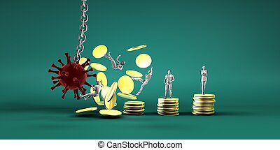 virus, économie, briser, mondiale