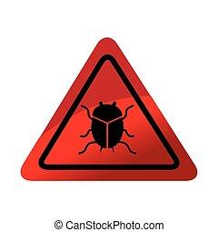 virus, alarm, insect, pictogram