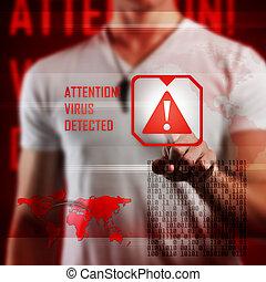 virus, alarm