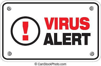 virus alert rectangle sign