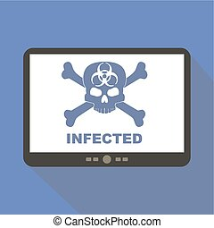 Virus Alert Tablet Icon