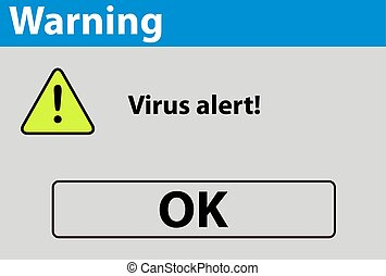 virus alert warning sign