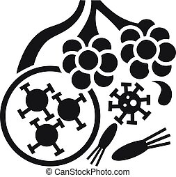 Virus alveoli icon, simple style