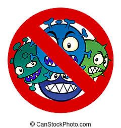 virus, anti, zeichen