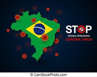 virus around Brazil