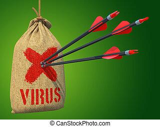 Virus - Arrows Hit in Red Mark Target.