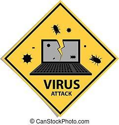 Virus attack sign