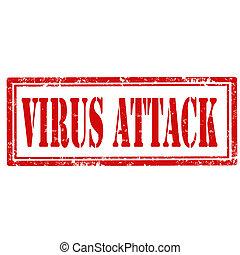 virus, attack-stamp