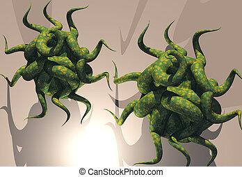 Virus - Attacking virus cells