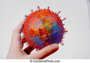 Virus background of Coronavirus, COVID-19. influenza. Dangerous   coronavirus pandemic outbreak