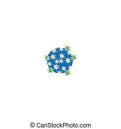 virus, bactérien, icône