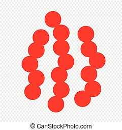 virus bacteria icon Illustration design