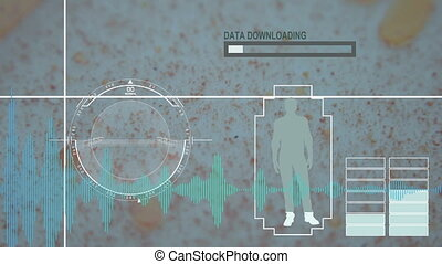 Virus, bacteria, microbe. HUD Futuristic medical background