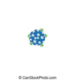 virus, batterico, icona