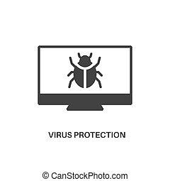 virus bescherming, pictogram